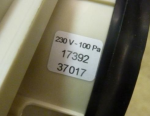 Aereco MEV product label